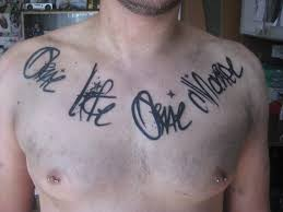 one life one chance tattoos pinterest tattoo
