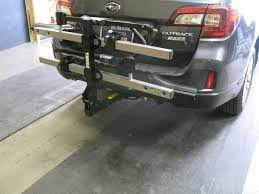subaru outback custom bumper cascade rack 2015 subaru outback hitch and bike rack