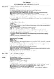 social worker resumes school social worker resume sles velvet