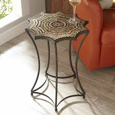 Mosaic Accent Table Living Room End Table Pier 1 Imports Starburst Mosaic Accent Table