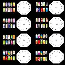 ophir 200 designs airbrush nail art stencil 20 template sheets kit