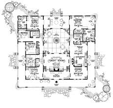 style home plans with courtyard mediterranean style house plan 4 beds 3 50 baths 3163 sq ft plan
