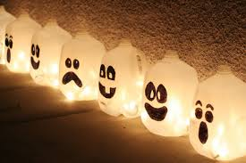 easy to make halloween party decorations simple plastic jugs for scary interior or outdoor lighting decor