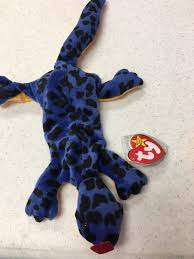 ty beanie baby lizzy lizard 1995 4th generation hang tag pvc