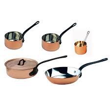 batterie cuisine cuivre batterie de cuisine 5 pièces baumalu en cuivre massif intérieur