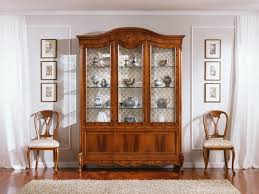 3 Door Display Cabinet Traditional Display With 3 Doors In Walnut Carvings Idfdesign