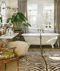 Zebra Print Area Rugs Bathroom Vintage Potted Plants For Classic Bathrooms With Zebra