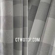 Grey Plaid Curtains Living Room Fabric Affordable Simple Gray Plaid Curtains