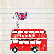 London Flag A Red London Bus With The United Kingdom Flag Royalty Free