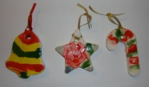art paper scissors glue ceramic christmas ornaments