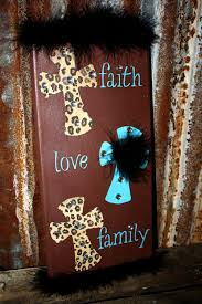 faith love family 7x14 canvas home decor crosses zebra cheetah