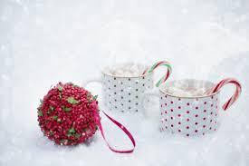 krus ornament bildet snø vinter blomst petal kopp varm sjokolade rød