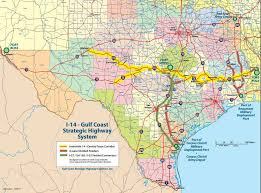 Usa Interstate Map by U S 190 To Become I 14 In Texas Louisiana Not Part Of Current