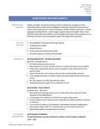 Resume Sample 2014 Lovable Bartender Resume Template Australia Free And Profess Zuffli