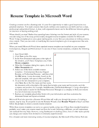 Job Resume Templates Microsoft Word 2007 by Resume Wizard In Word 2007 Resume For Your Job Application