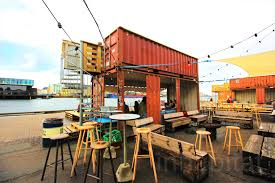 abandoned island reborn as a shipping container street food mecca