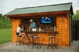 shed idea how to build your own tiki bar for cheap good idea build tiki bar in