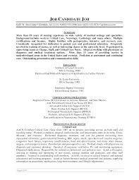 Resume For Triage Nurse Examples Of Resumes For Nurses Resume Example And Free Resume Maker