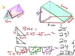 surface area triangular prism math measurements showme