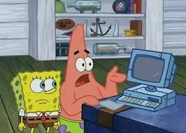 Spongebob Internet Meme - wait spongebob we aren t cave men we have tecnology