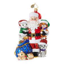 christopher radko ornaments radko santa claus paws for claus 1018659