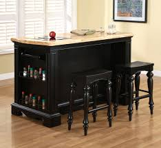 kitchen island set powell pennfield 3 kitchen island set in black
