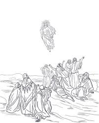 coloring page of jesus ascension jesus ascension into heaven coloring page free printable coloring