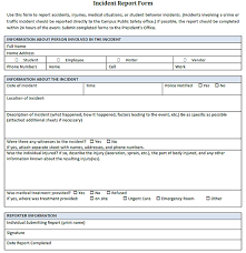 incident report form template word incident report template helloalive