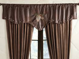 embroidered pinecone valance clearance