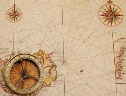Ancient Map Old Compass Over Ancient Map U2014 Stock Photo Goir 125665606