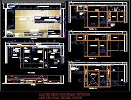 interior layout dwg complete master bedroom interior detail layout bed wall design