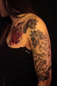 flower tattoos on shoulder 2