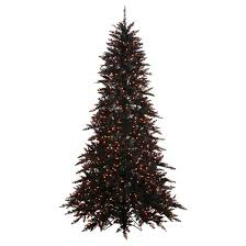 6 5 pre lit artificial tree black fir orange lights