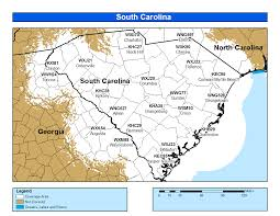 Charleston Sc Map Noaa Weather Radio South Carolina
