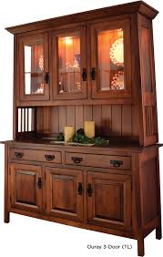 Oak Buffet And Hutch by Greenes Amish Furniture Custom Crafted Custom Finished Fine