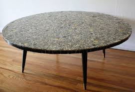 mid century round coffee table mid century modern tile top tables picked vintage