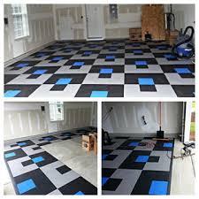 Interlocking Garage Floor Tiles Modutile Interlocking Garage Floor Tiles 30 Pack Coin White