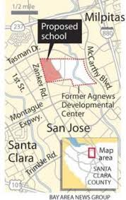 san jose unified map bid for state owned agnews land submitted by santa clara unified
