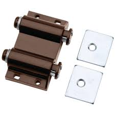 kitchen cabinet door magnets home depot liberty 2 in brown magnetic touch loaded catch with strike plates c07775c br c the home depot