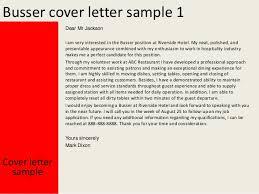 Cover Letter For Busser busser cover letter