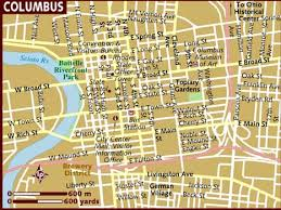 map of columbus map of columbus
