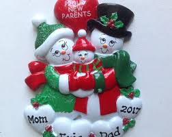 new parents ornament etsy