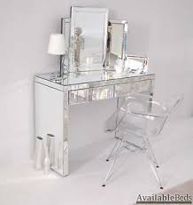 Clear Vanity Table Large Mirrored Furniture Large Dressing Console Table Desk