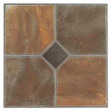 nexus rustic slate 12x12 self adhesive vinyl floor tile 20 tiles