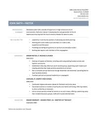 Ministry Resume Templates Pastor Resume Template Cronjob Billybullock Us