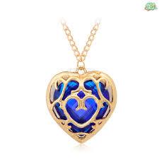 golden pendant necklace images Legend of zelda red blue heart golden pendant necklace jpg