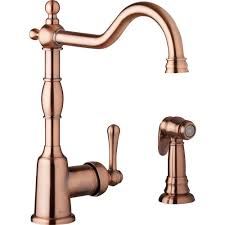 copper faucets kitchen danze opulence single handle standard kitchen faucet with side
