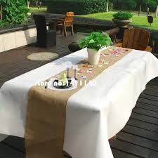 natural burlap table runner chemin de table mariage 10m burlap table runner natural jute country