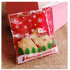 santa sleigh merry christmas cookie candy party gift bags with