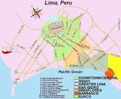 lima map peru hotels map of lima san isidro and miraflores peru